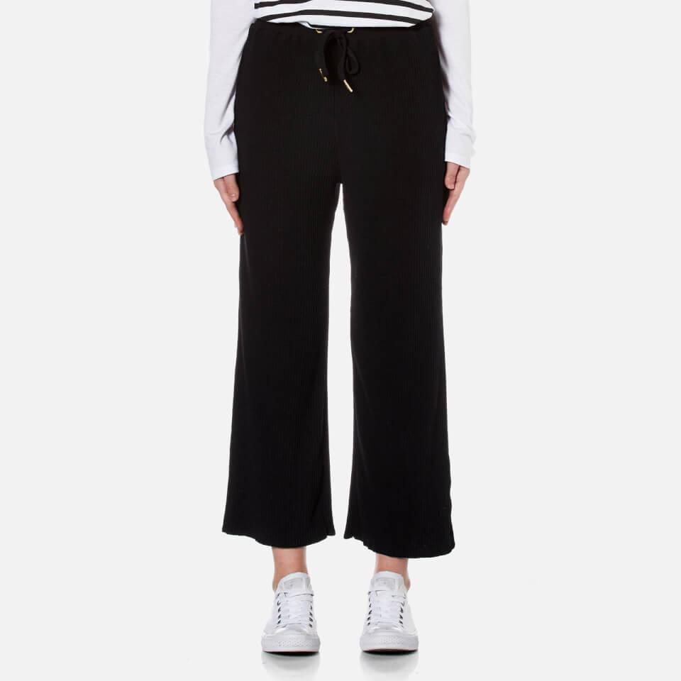 Minkpink Womens Cropped Drawstring Pants Black M
