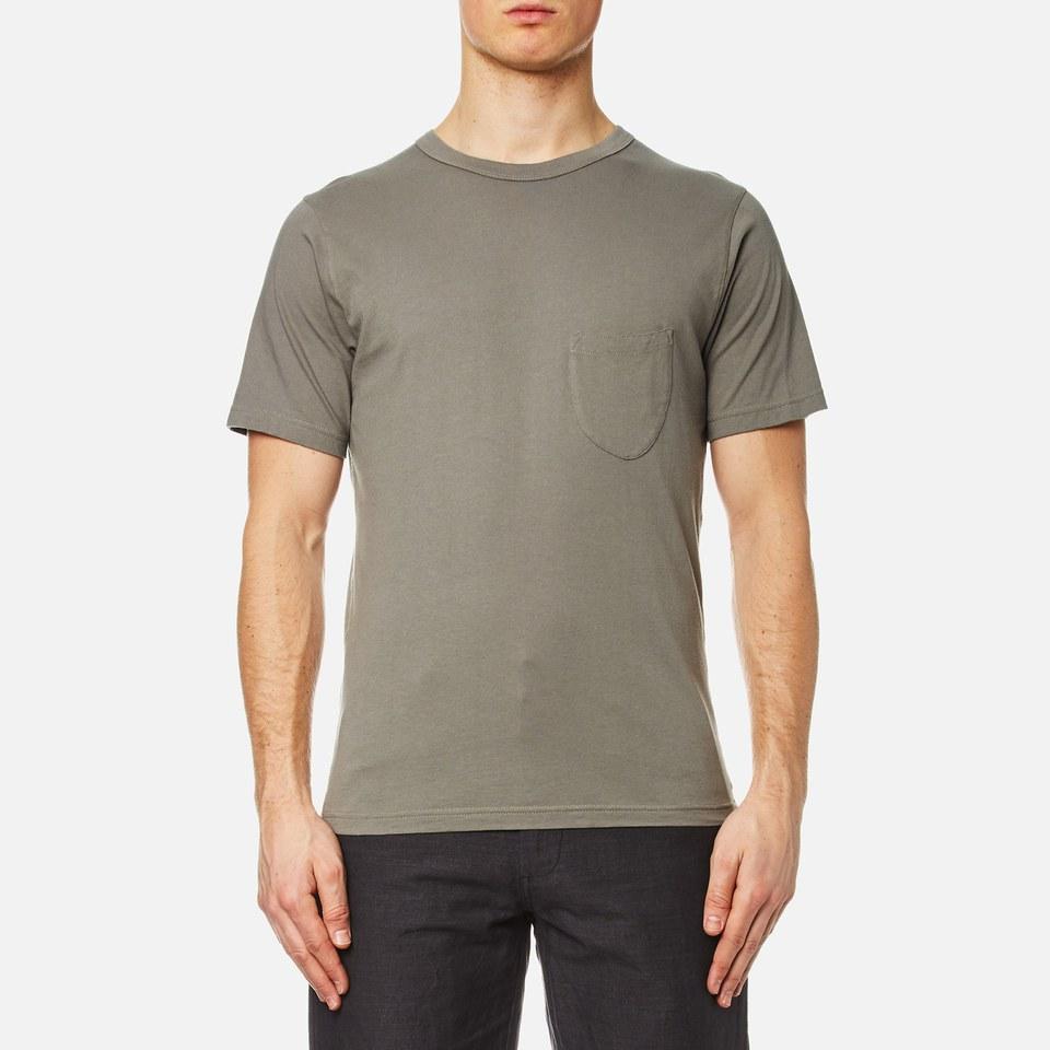 Universal Works Mens Pocket T-shirt Dk Stone M