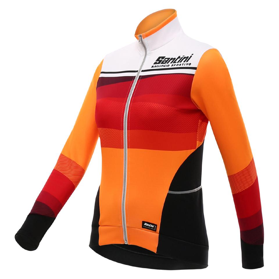 santini-women-coral-thermal-long-sleeve-jersey-orange-s