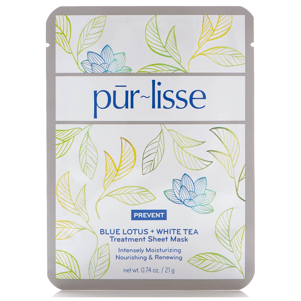 Image of Purlisse Blue Lotus and White Tea Treatment Sheet Mask