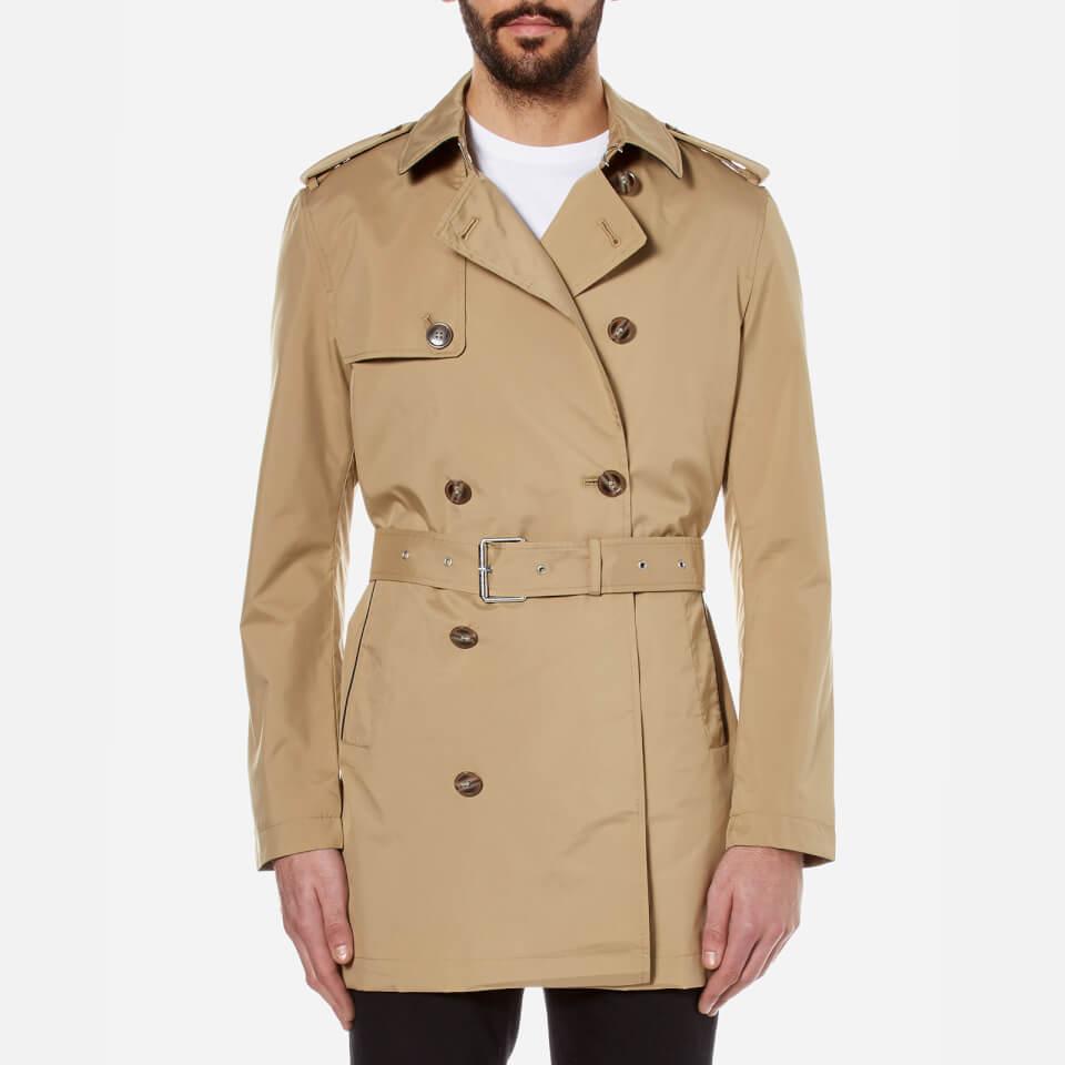 Michael Kors Mens Nylon Trench Coat Khaki L