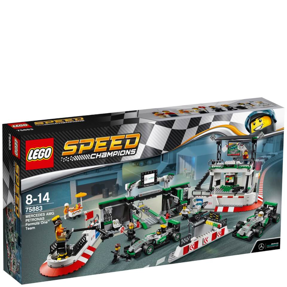lego speed champions mercedes amg petronas formula one team 75883 toys. Black Bedroom Furniture Sets. Home Design Ideas