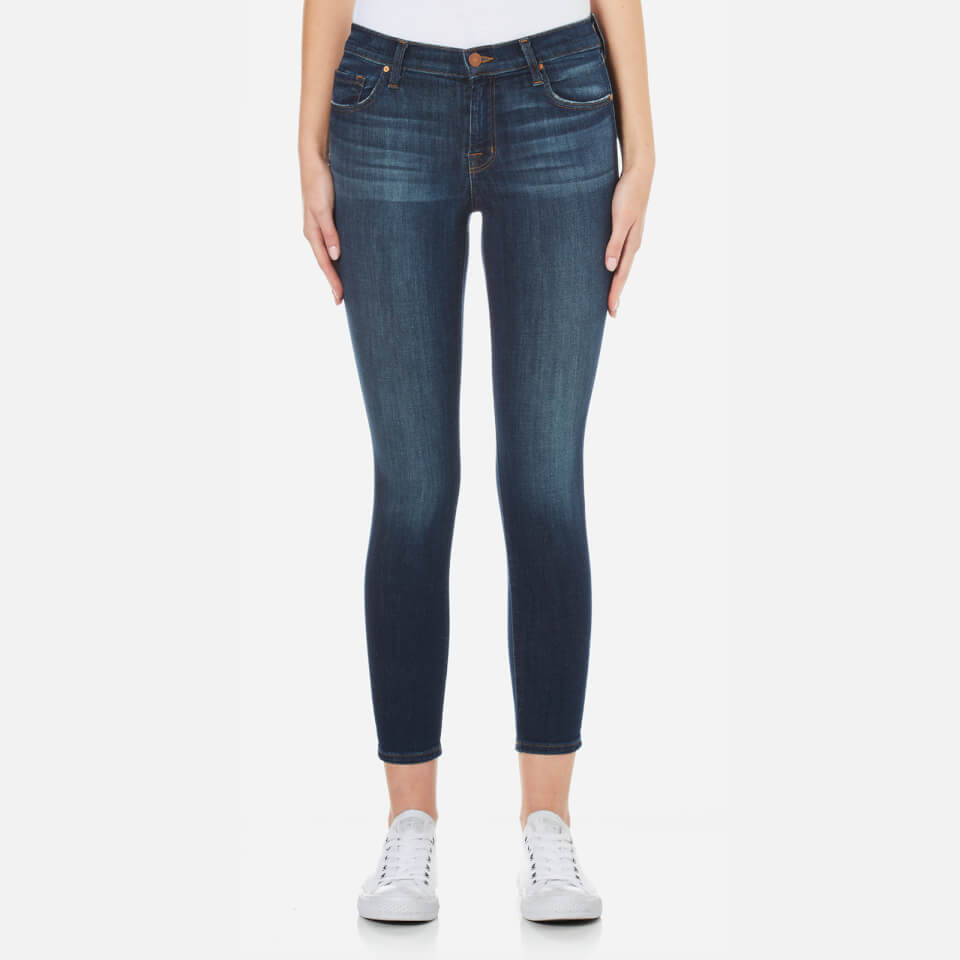 J Brand Womens Mid Rise Cross Hatch Super Stretch Capri Skinny Jeans Sublime W27