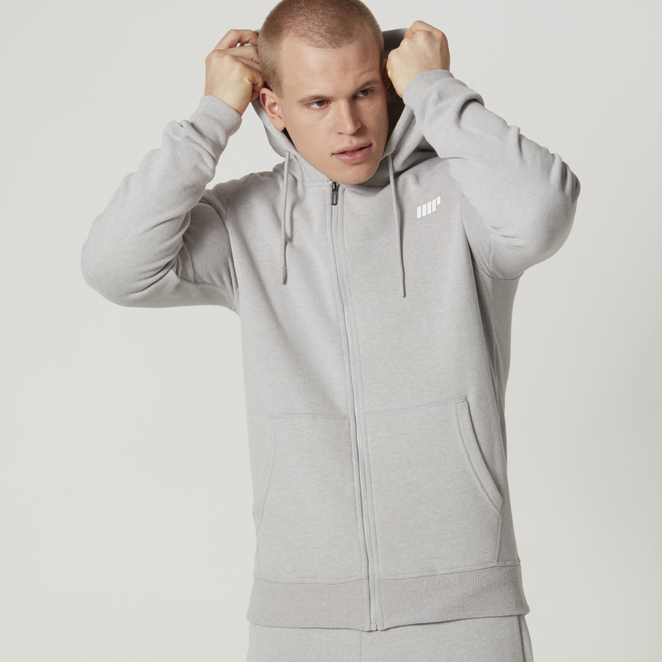 Myprotein Men's Tru-Fit Full Zip Hoodie - Light Grey Marl - M 11341481