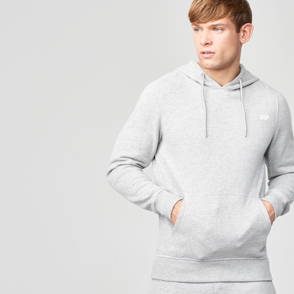 Myprotein Men's Tru-Fit Pullover Hoodie - Light Grey Marl - XXL 11341502