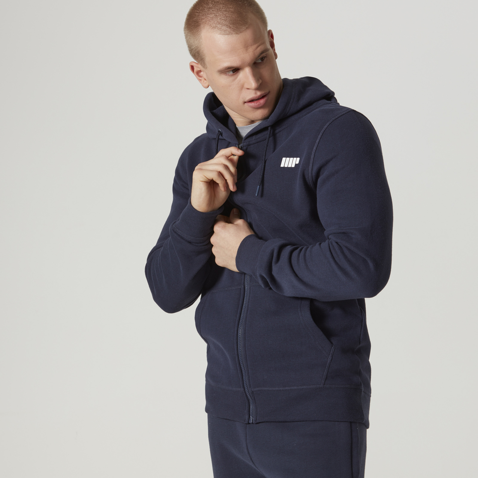 Myprotein Men's Tru-Fit Full Zip Hoodie - Navy - S 11341516