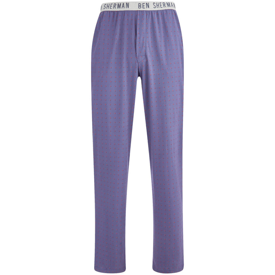 Pantalón pijama topos Ben Sherman Arthur - Hombre - Azul/naranja - S - Azul