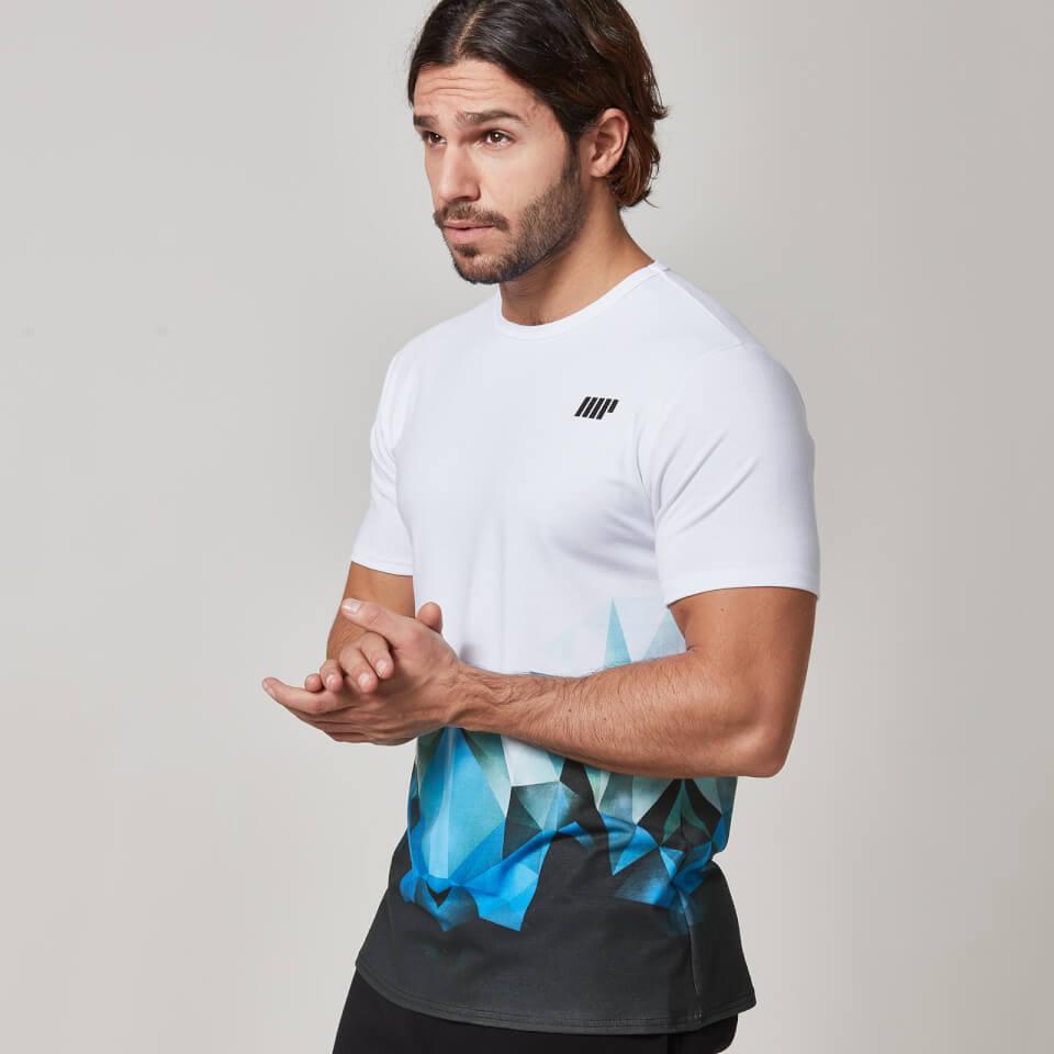 Myprotein Men's Digital Geo Print T-Shirt - Blue, S