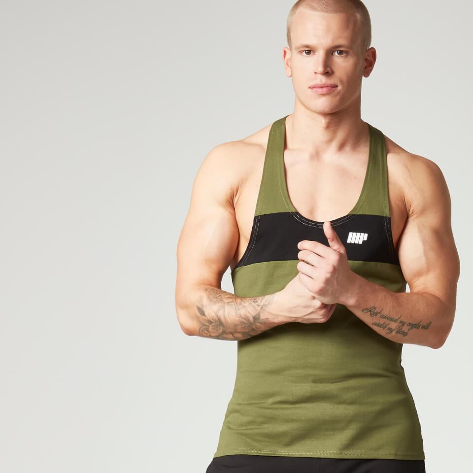myprotein-men-core-stripe-stringer-vest-khaki-s