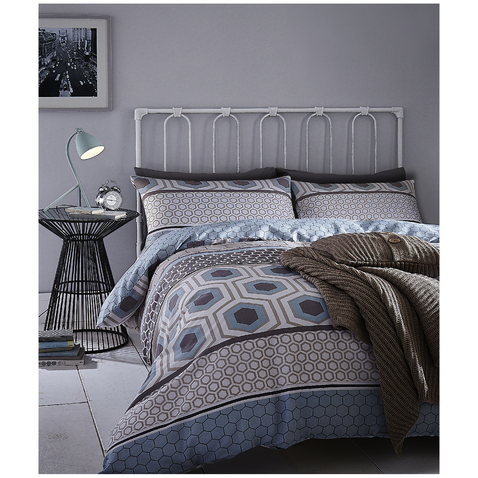 catherine-lansfield-retro-bands-bedding-set-teal-single-teal