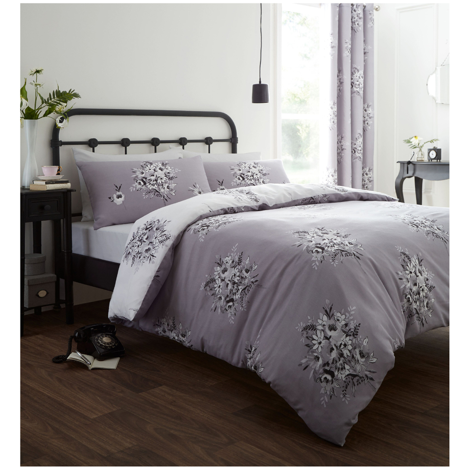 catherine-lansfield-floral-bouquet-bedding-set-grey-single
