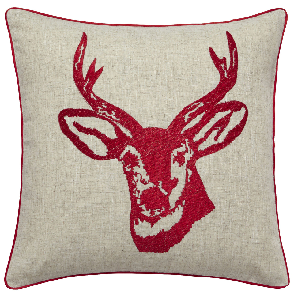 catherine-lansfield-stags-head-cushion-45cm-x-45cm-red