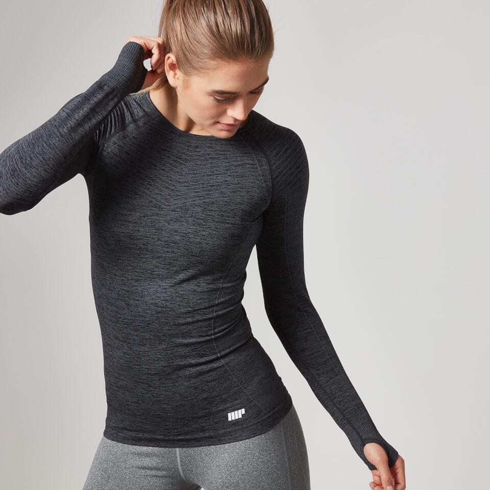 Myprotein Women's Seamless Long Sleeve T-Shirt - Black, XS