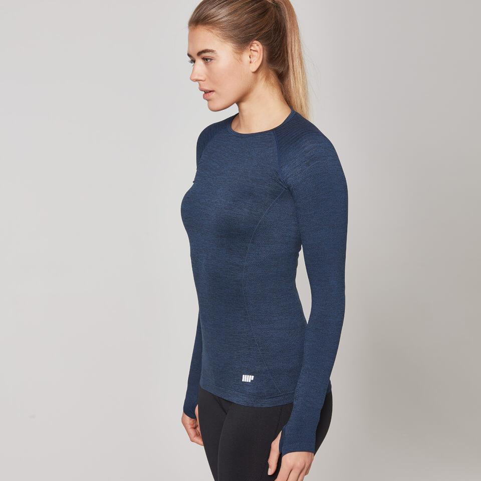 Myprotein Women's Seamless Long Sleeve T-Shirt - Navy, XS