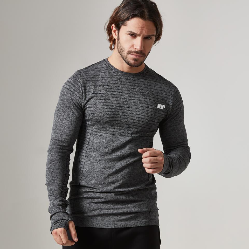 Myprotein Men's Seamless Long Sleeve T-Shirt - Black, S