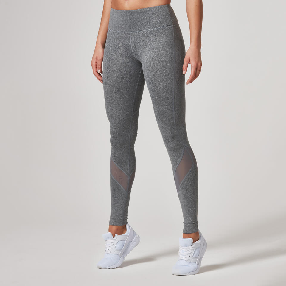 Heartbeat Full-Length Leggings - Grey, S 11344864