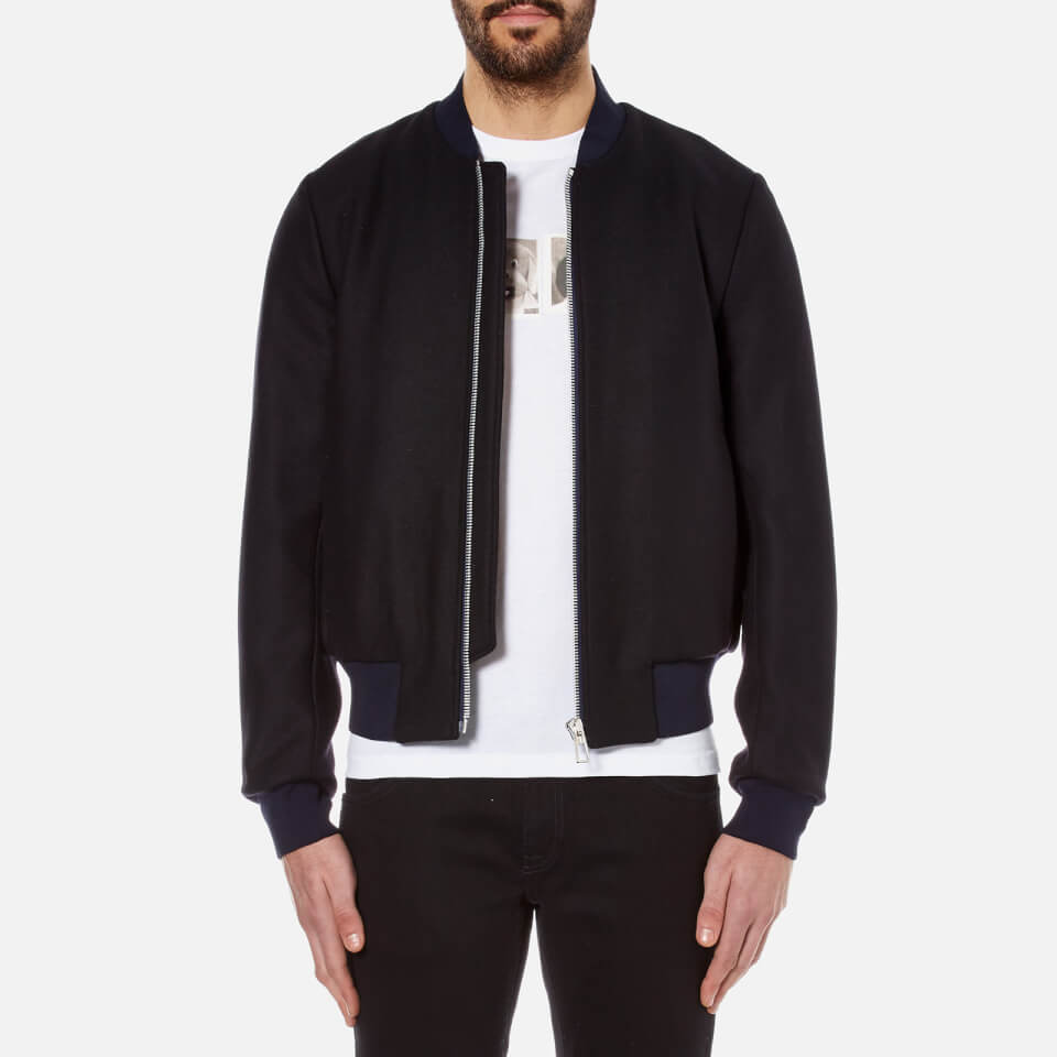 Ps By Paul Smith Mens Bomber Jacket Navy L
