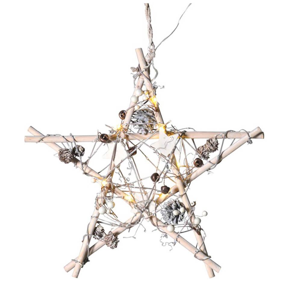 bark-blossom-wooden-star-white