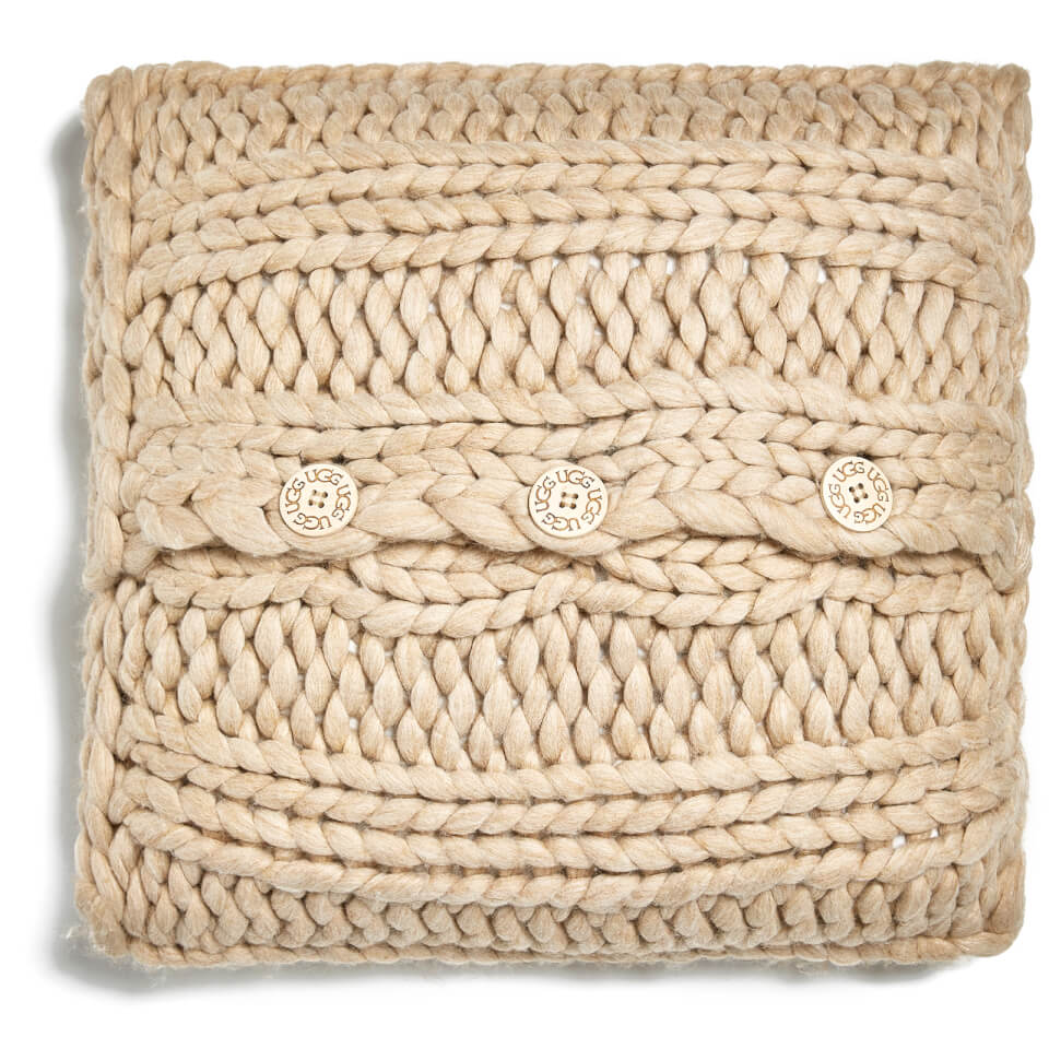 Ugg Oversized Knitted Cushion Cover Oatmeal (50x50cm)
