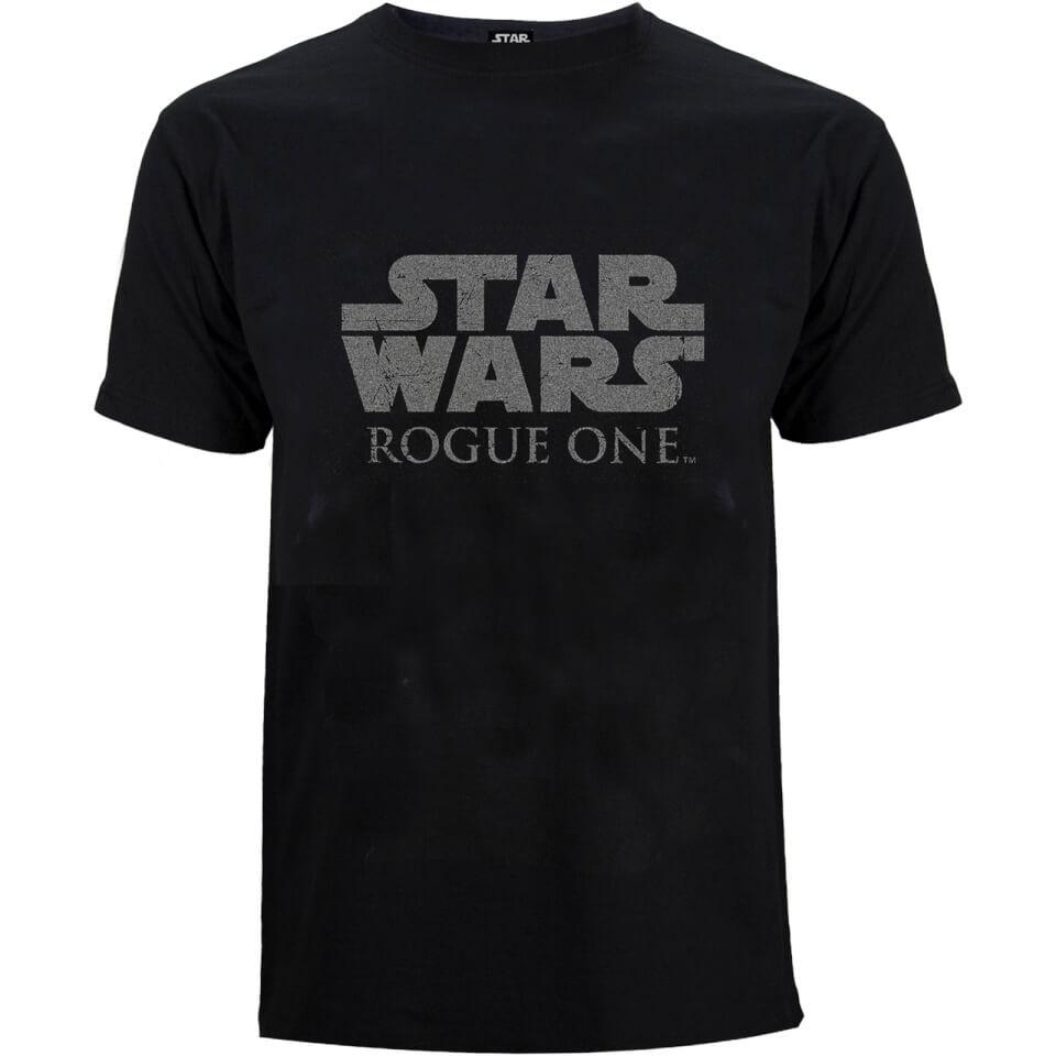 Star Wars Rogue One Men's Star Wars Logo T Shirt Black XXL