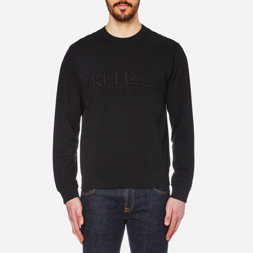 Kenzo Mens Text Logo Sweatshirt Black M
