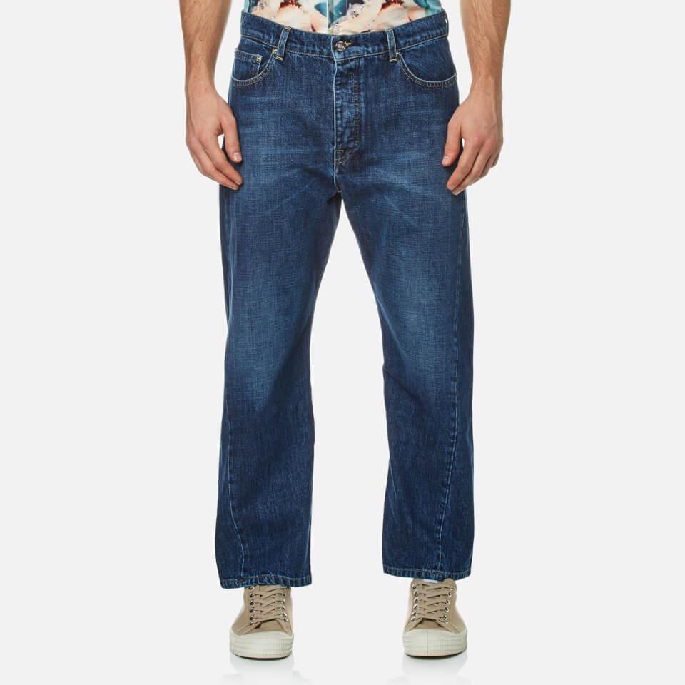 Kenzo Mens Twist Seam Wrap Jeans Navy W30