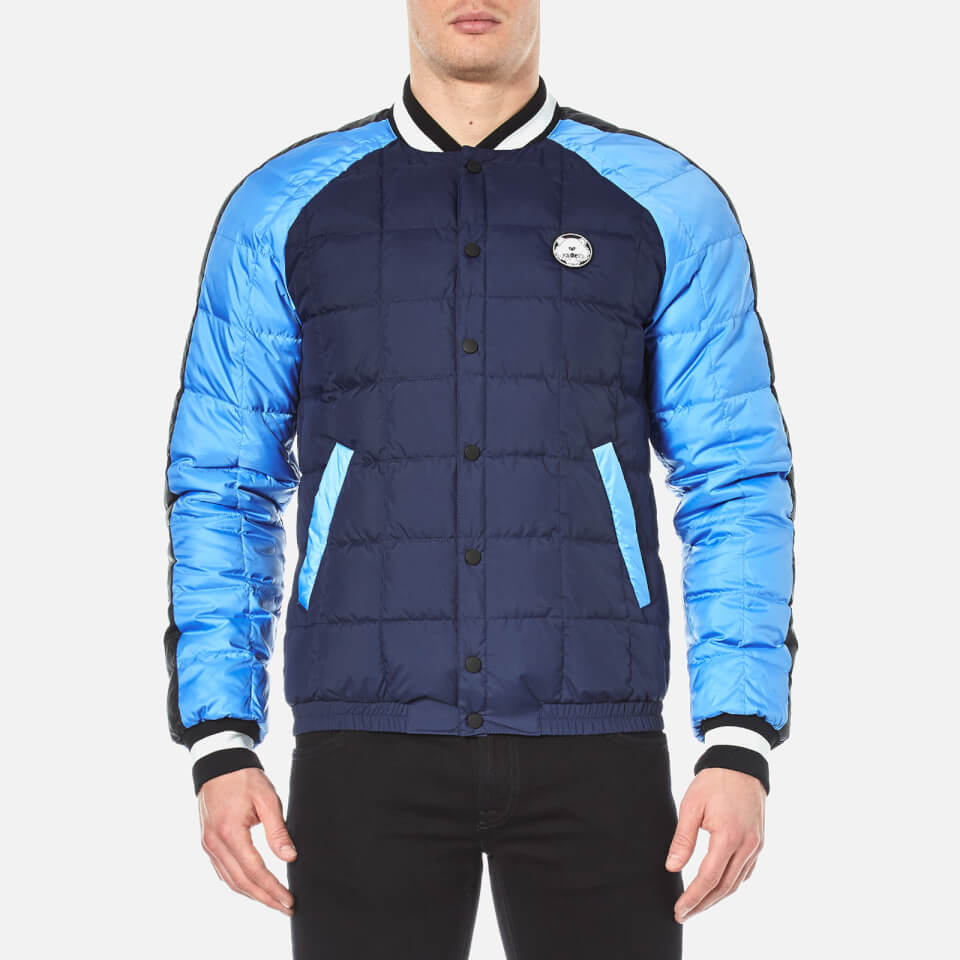 Kenzo Mens Quilted Tiger Bomber Jacket Midnight Blue M