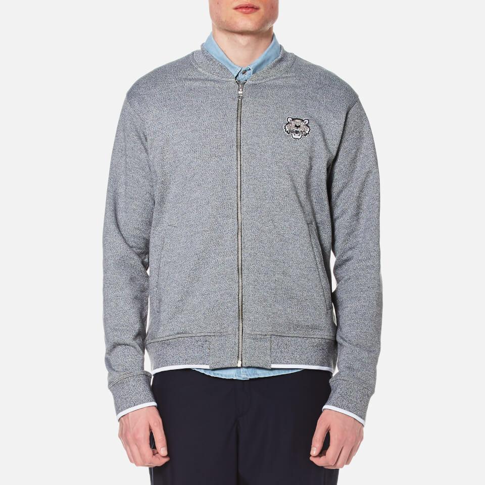 Kenzo Mens Tiger Zip Sweatshirt Bomber Jacket Grey Xl