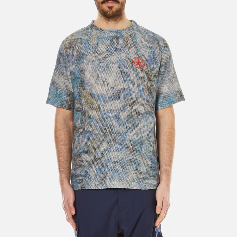 Vivienne Westwood Man Mens Military Mess T-shirt Blue Print M
