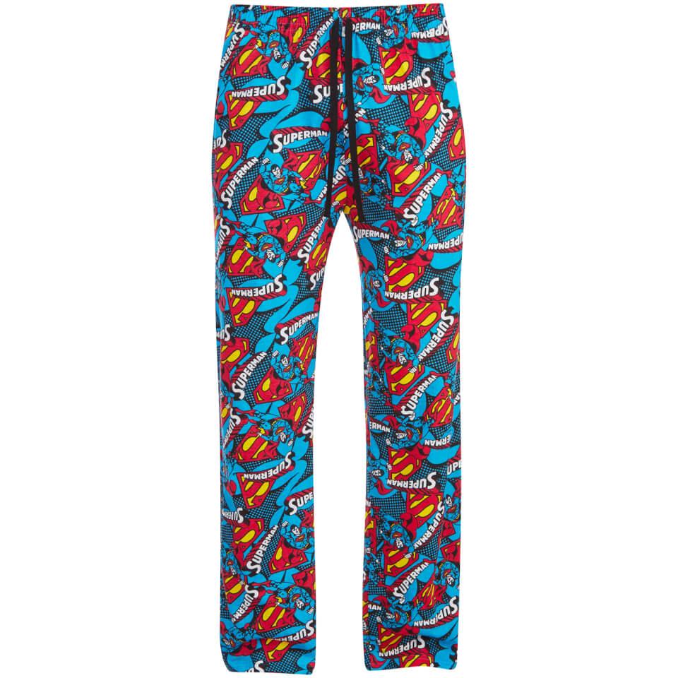 DC Comics Men's Superman Lounge Pants Blue S