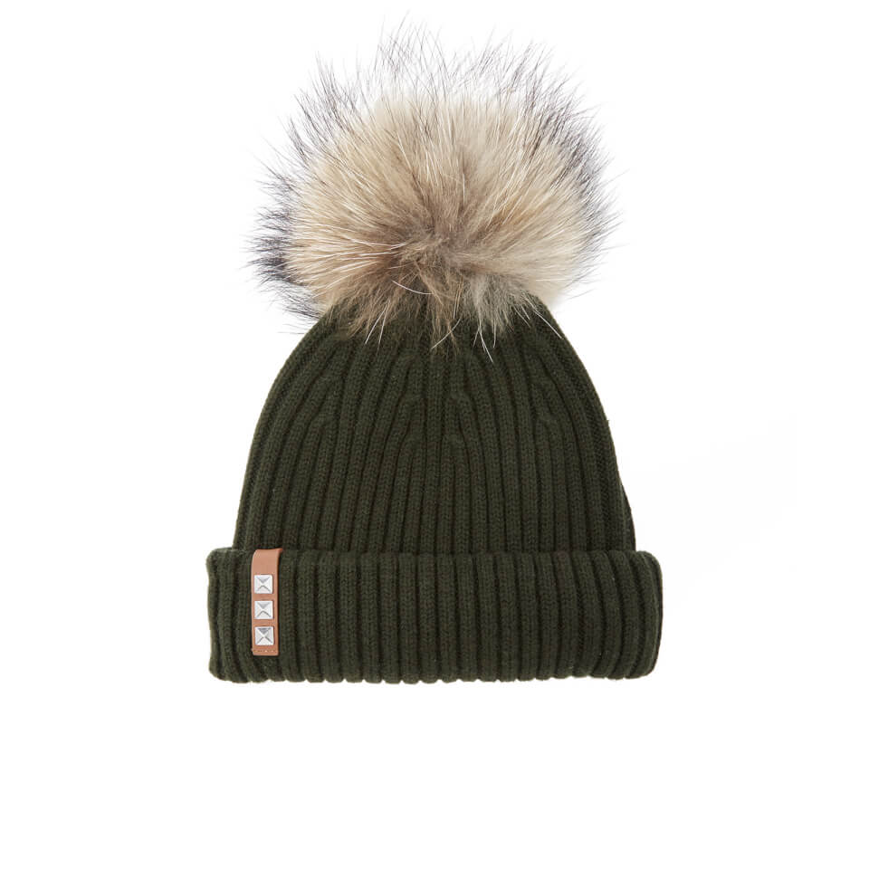 bklyn-women-merino-wool-hat-with-natural-pom-pom-army-green