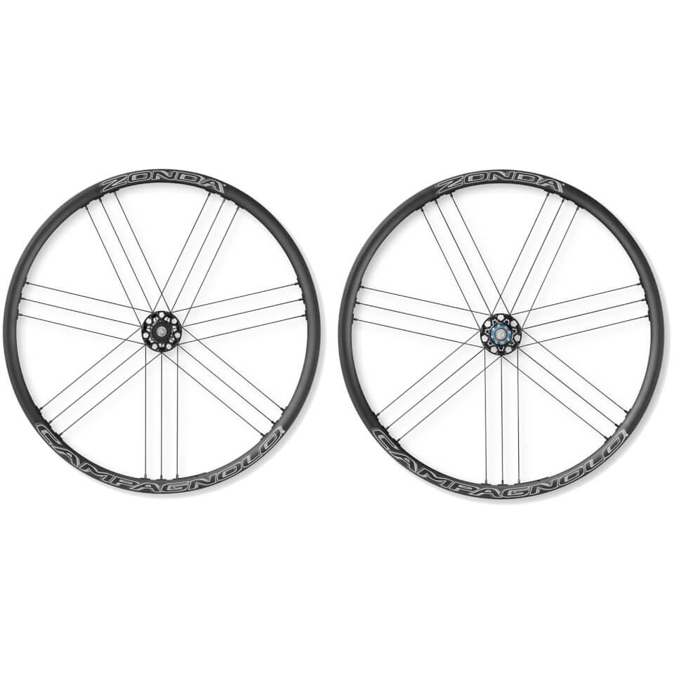 campagnolo-zonda-c17-disc-brake-bolt-thru-clincher-wheelset-2018-black-6-bolt-rotor-campagnolo-dark-label