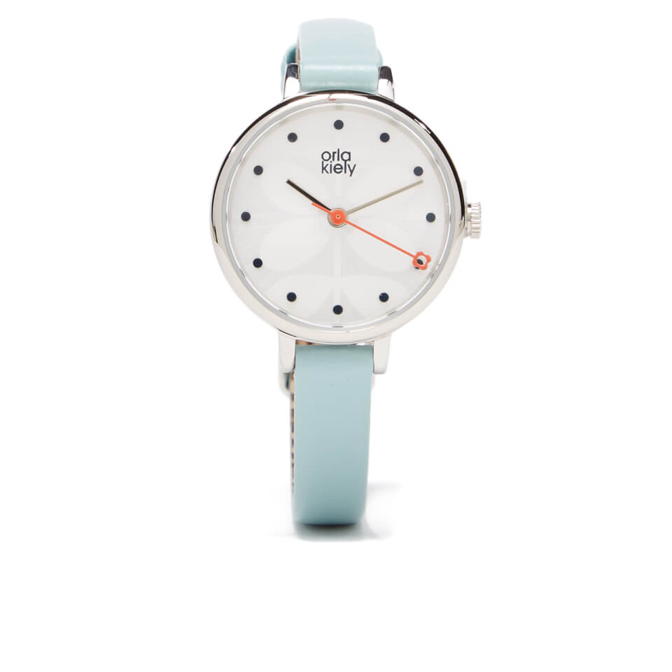 orla-kiely-women-ivy-blue-leather-watch-blue