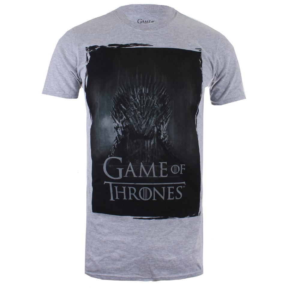 Game of Thrones Herren Throne T Shirt Grau Marl XXL Grau