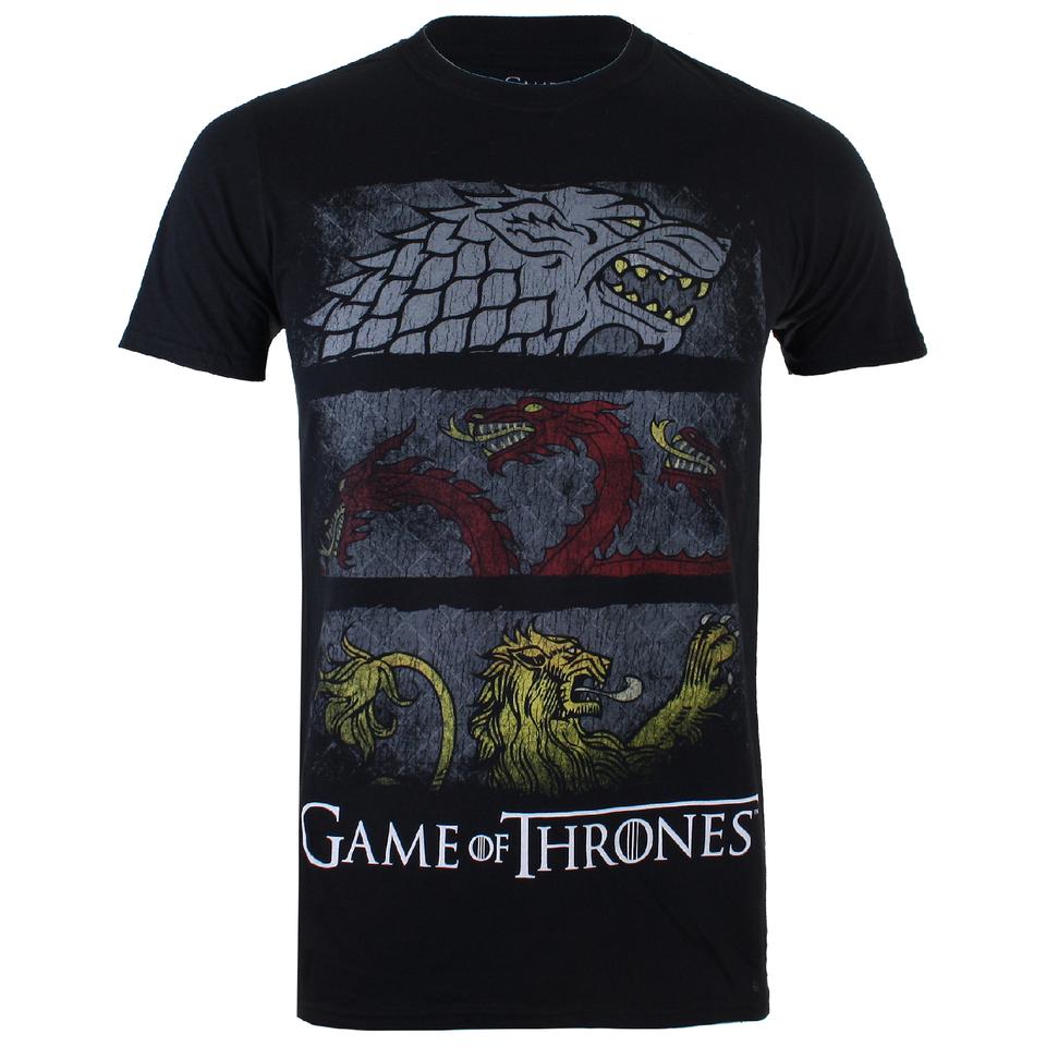 Game of Thrones Herren Sigil Banners T Shirt Schwarz XXL Schwarz