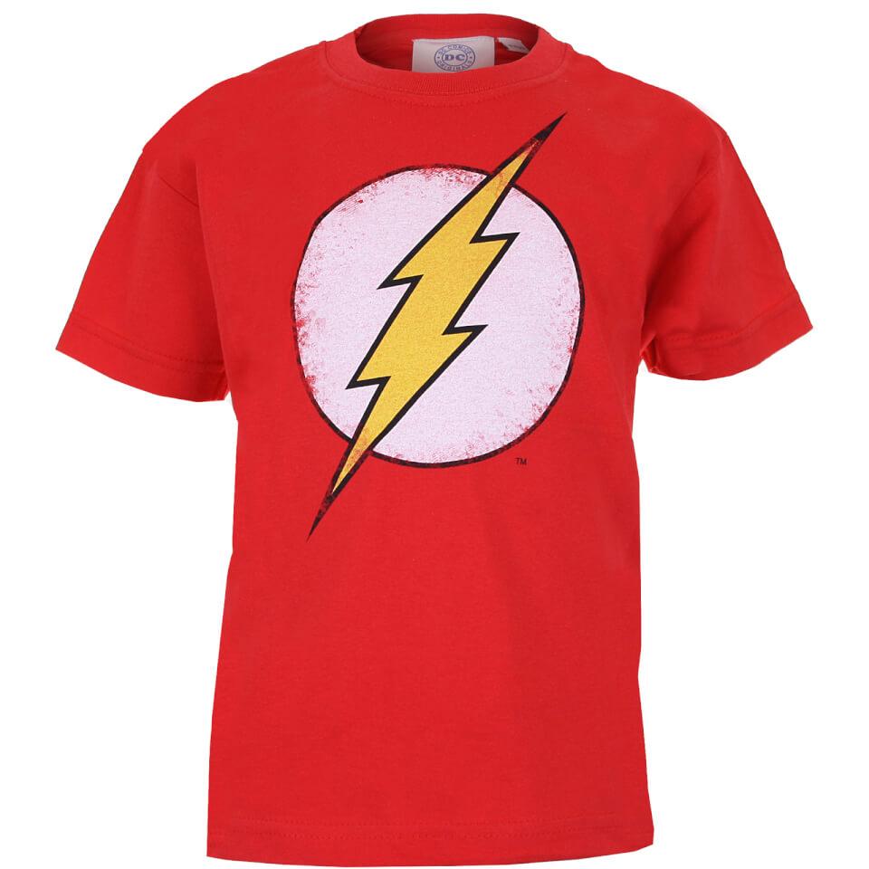 DC Comics Kinder The Flash Distress Logo T Shirt Rot 7 8 Years Rot