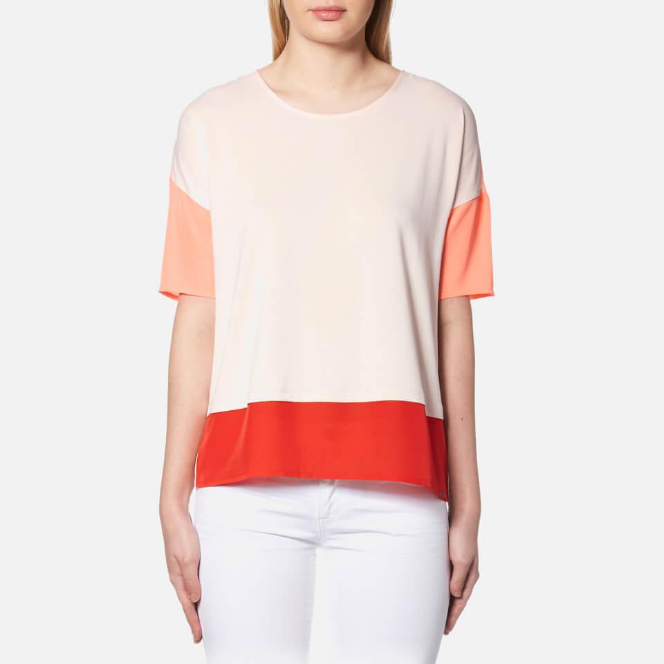 Boss orange women 39 s tustripe t shirt light pastel pink for Pastel pink dress shirt