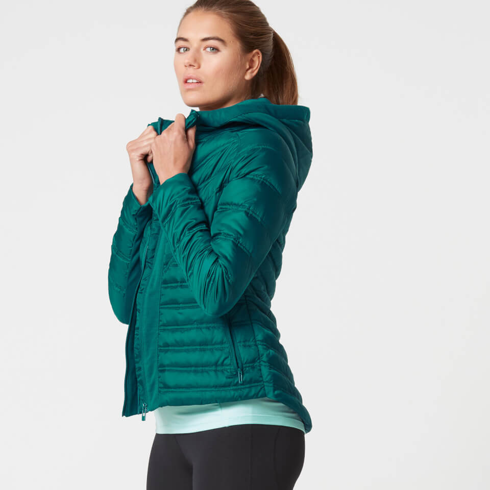 Myprotein Women's Lightweight Puffa Jacket - Teal - XL