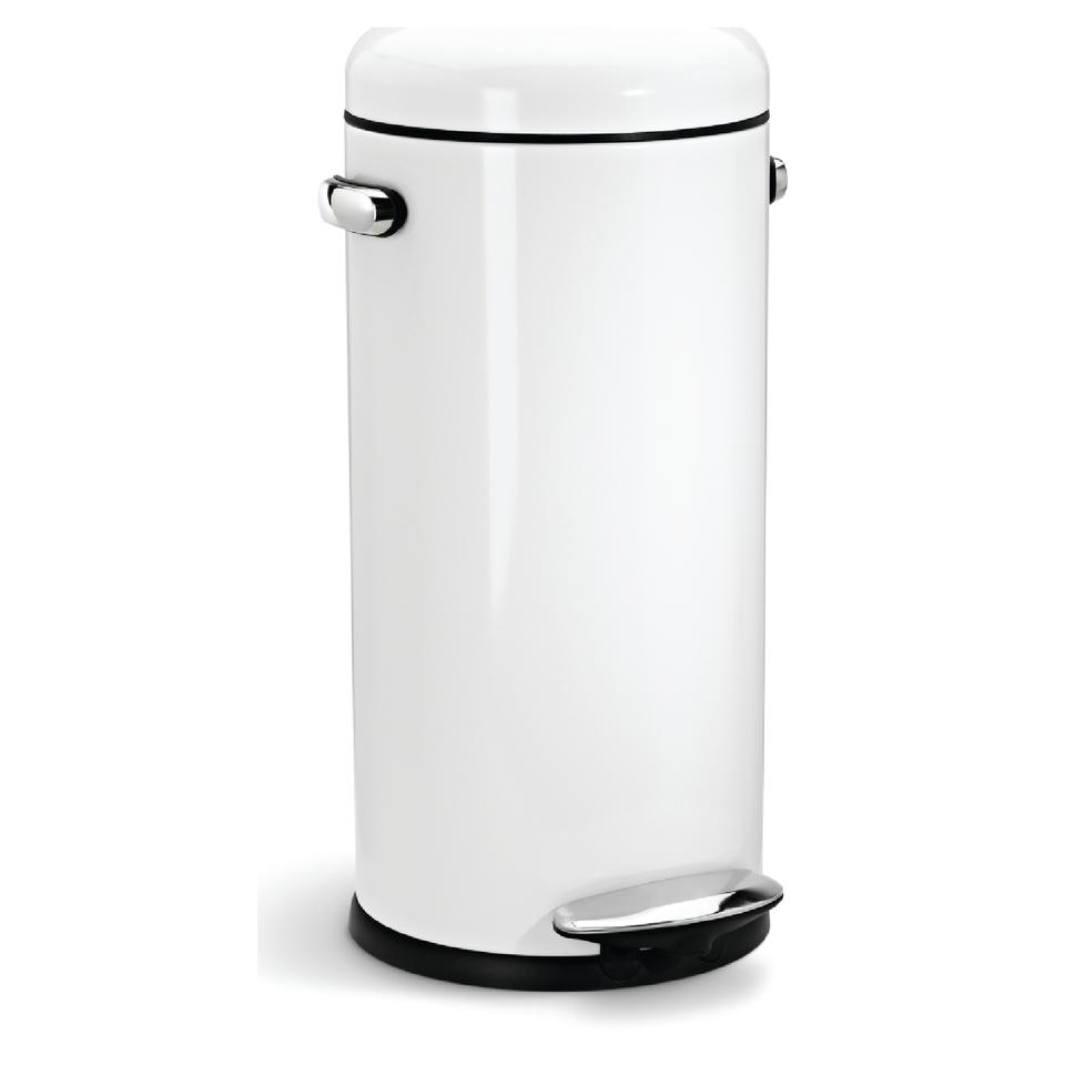 simplehuman-round-steel-retro-pedal-bin-white-30l