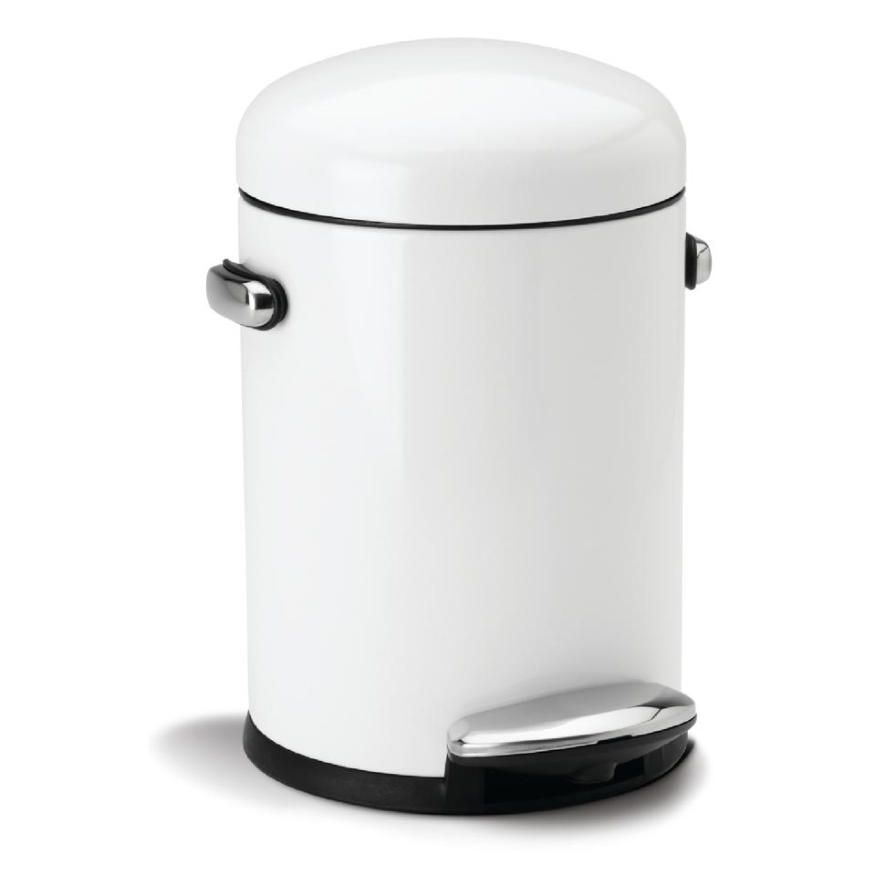 simplehuman-round-steel-retro-pedal-bin-white-45l
