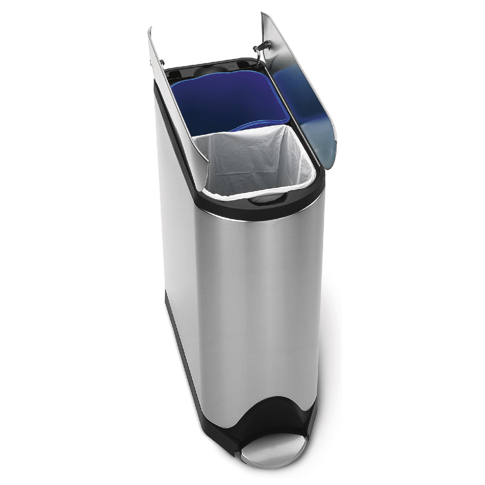 simplehuman-butterfly-brushed-steel-recycler-pedal-bin-40l