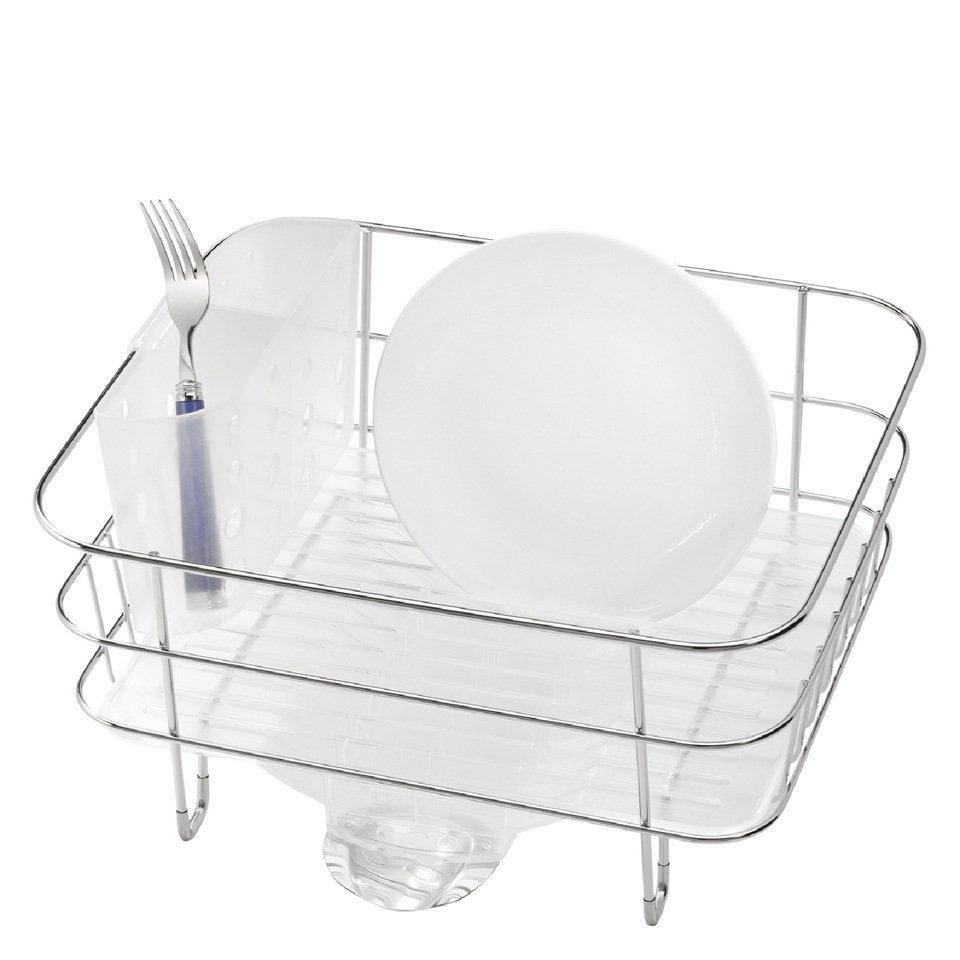 simplehuman-compact-brushed-steel-wire-dish-rack
