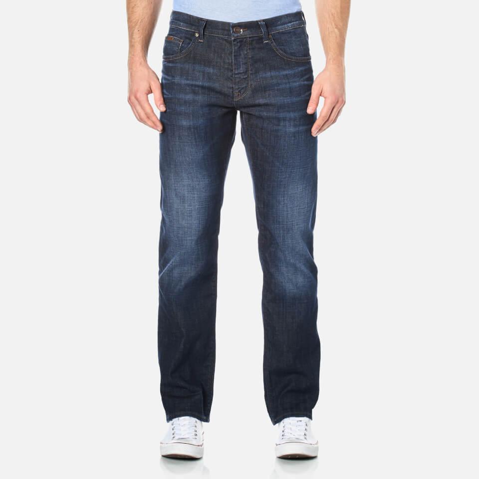 Boss Green Mens Maine Straight Leg Jeans Navy W36/l34