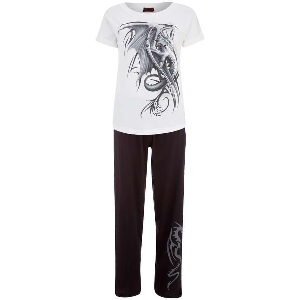Conjunto de Pijama Spiral Wyvern - Mujer - Negro/blanco - M - Black/White