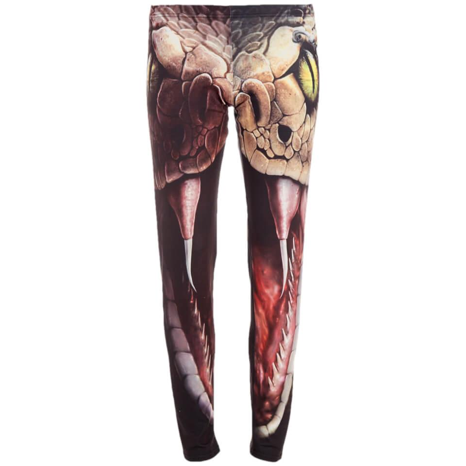 Leggings Spiral Snake Eye - Mujer - Negro - L - Negro