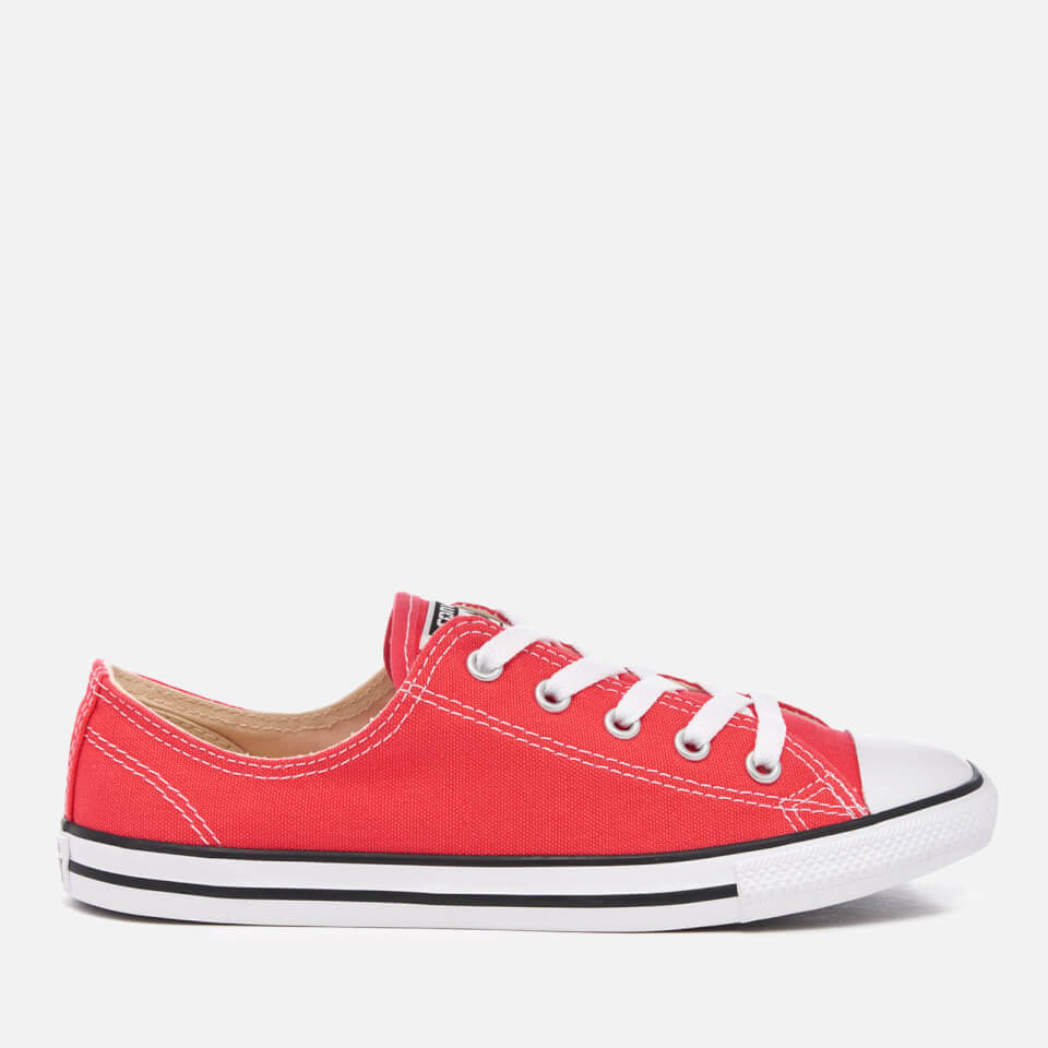 4601f671a6e5 Converse Women s Chuck Taylor All Star Dainty Trainers - Ultra Red Black White  Womens Footwear