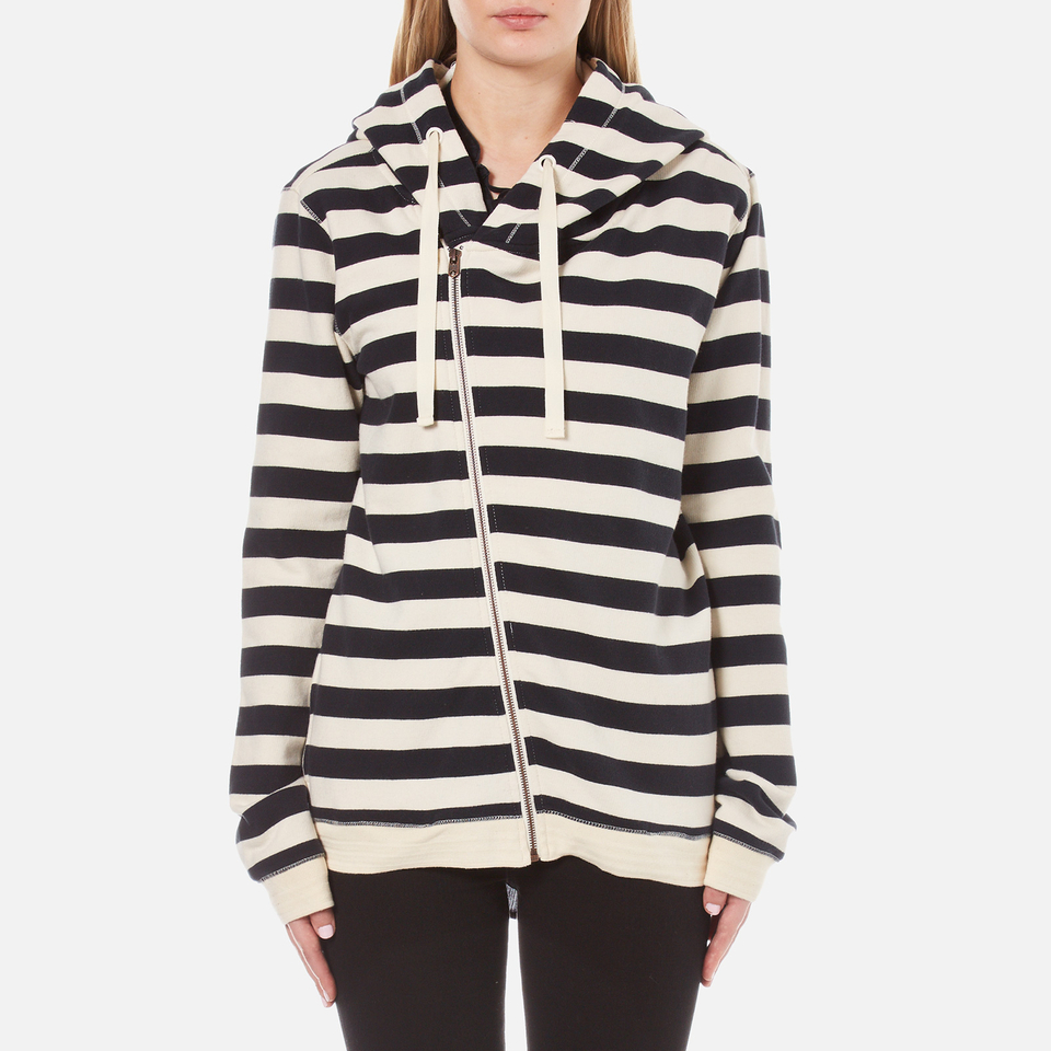 Maison Scotch Womens Home Alone Double Hooded Sweatshirt With Zip Closure Combo B Uk 10/2