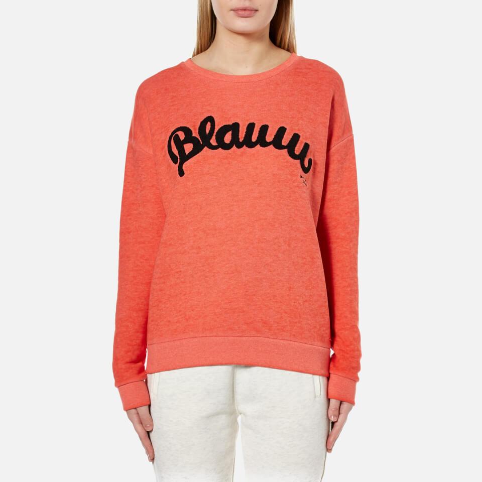 Maison Scotch Womens Blauw Burnout Sweatshirt Lips Uk 12/3
