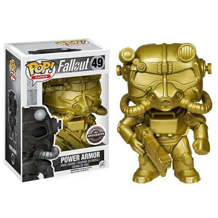 Funko Power Armour Gold Pop Vinyl Pop In A Box Uk