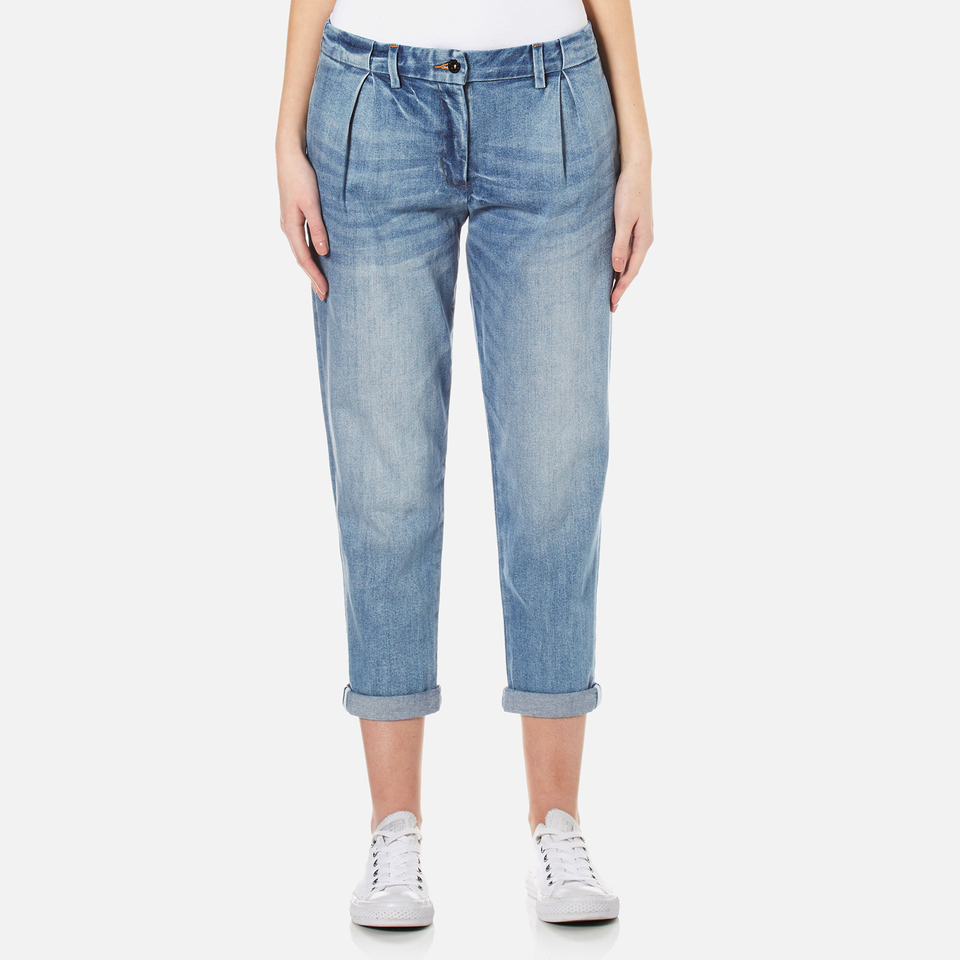 Barbour Heritage Womens Jeans Light Wash Uk 8